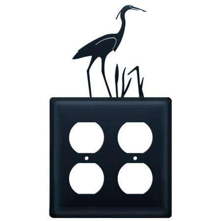 Village Wrought Iron EOO-133 Heron - Double Outlet Cover ()