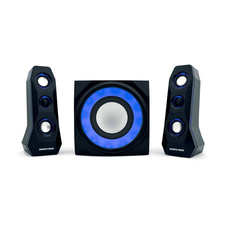 Sharper Image SBT2005 2.1 Computer Speakers with Subwoofer , 2.1 Speaker System with Bluetooth, AC Powered, Headphone Jack, Stereo