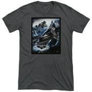 Dark Knight Rises Batwing Rises Mens Tri-Blend Short Sleeve Shirt