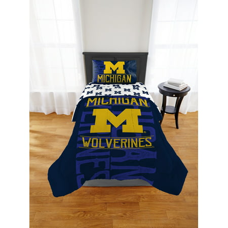 NCAA Michigan Wolverines Affiliation Twin or Full Comforter, 1