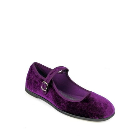 Nature Breeze Mary Jane Women's Flats in Purple