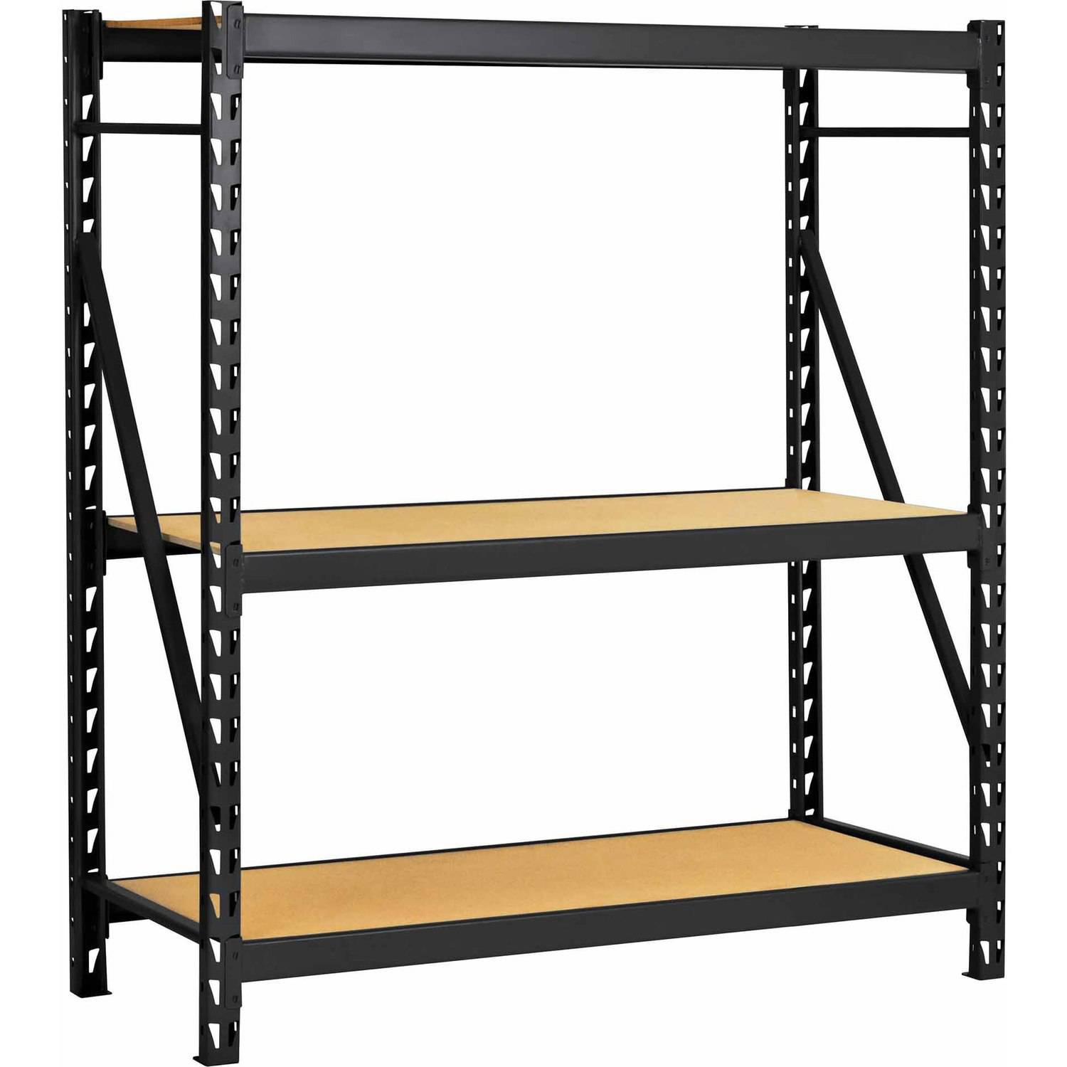 metal storage rack edsal welded steel rack black erz601866pb3 walmart 23294