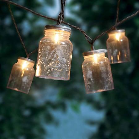lighting jar. Mainstays Mason Jar Mini String Lights, 10 Count Lighting