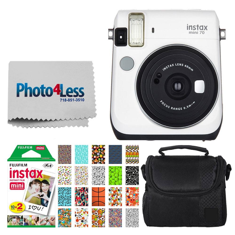 FujiFilm instax Mini 70 Instant Film Camera (Moon White) + FujiFilm Instax Mini Twin Pack Instant Film + Small Digital... by Fujifilm