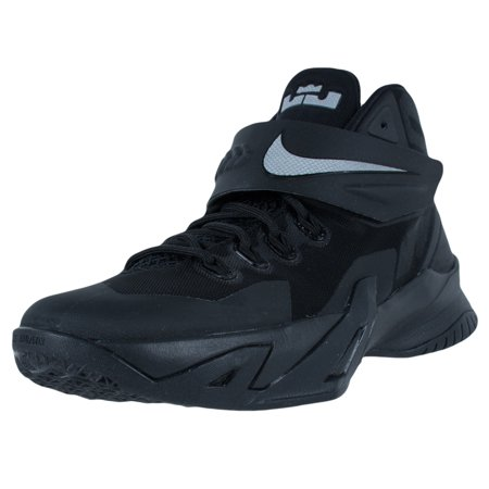 Nike Youth Solr Viii Gs Basketball Shoes Black Metallic Silver 653645 004