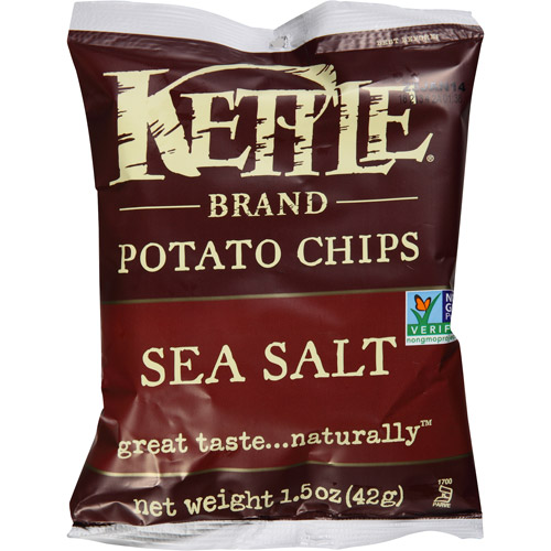Kettle Brand Sea Salt Potato Chips, 1.5 oz, (Pack of 24)