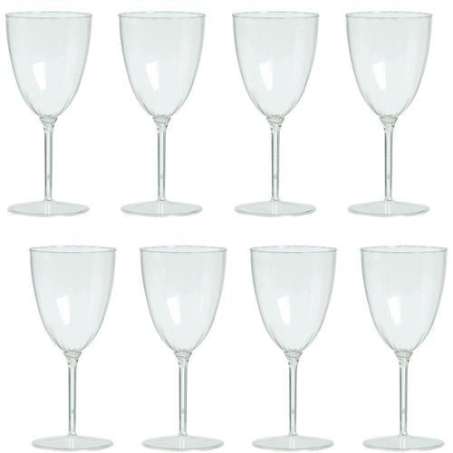 Wine Goblets 8Oz Premium Plastic (8 Pack) - Party Supplies