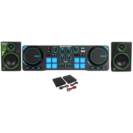 Hercules DJControl Compact USB 2-Deck DJ Controller Mixer + (2) Mackie