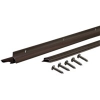 """M-D Products 81927 36"""" Bronze Anodized L-Shaped Door Bottom with Drip Cap"""