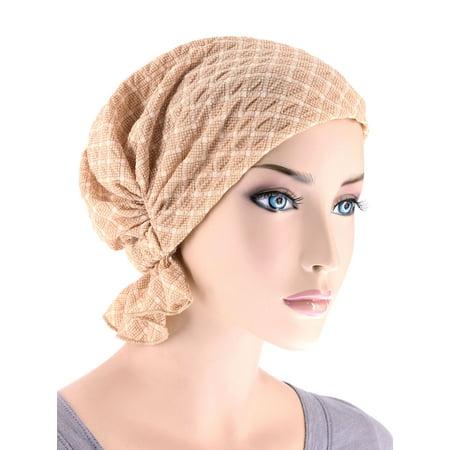 005fae926c4 Turban Plus - Turban Plus The Abbey Cap ® Womens Chemo Hat Beanie Scarf  Turban for Cancer Blended Knit Spring Beige - Walmart.com