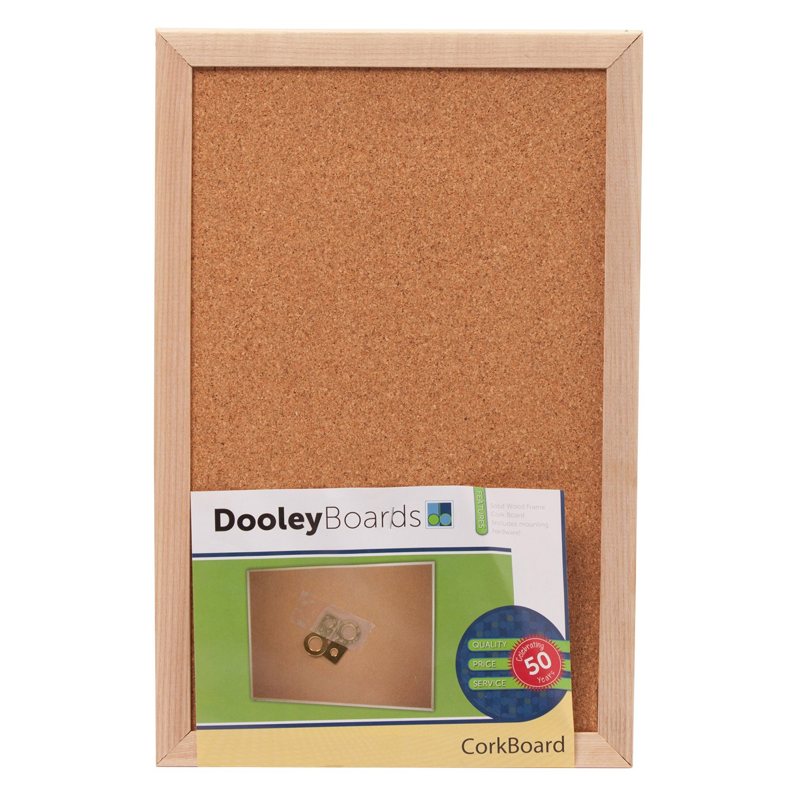 Dooley Boards 1218 CO Wood Framed Cork Board