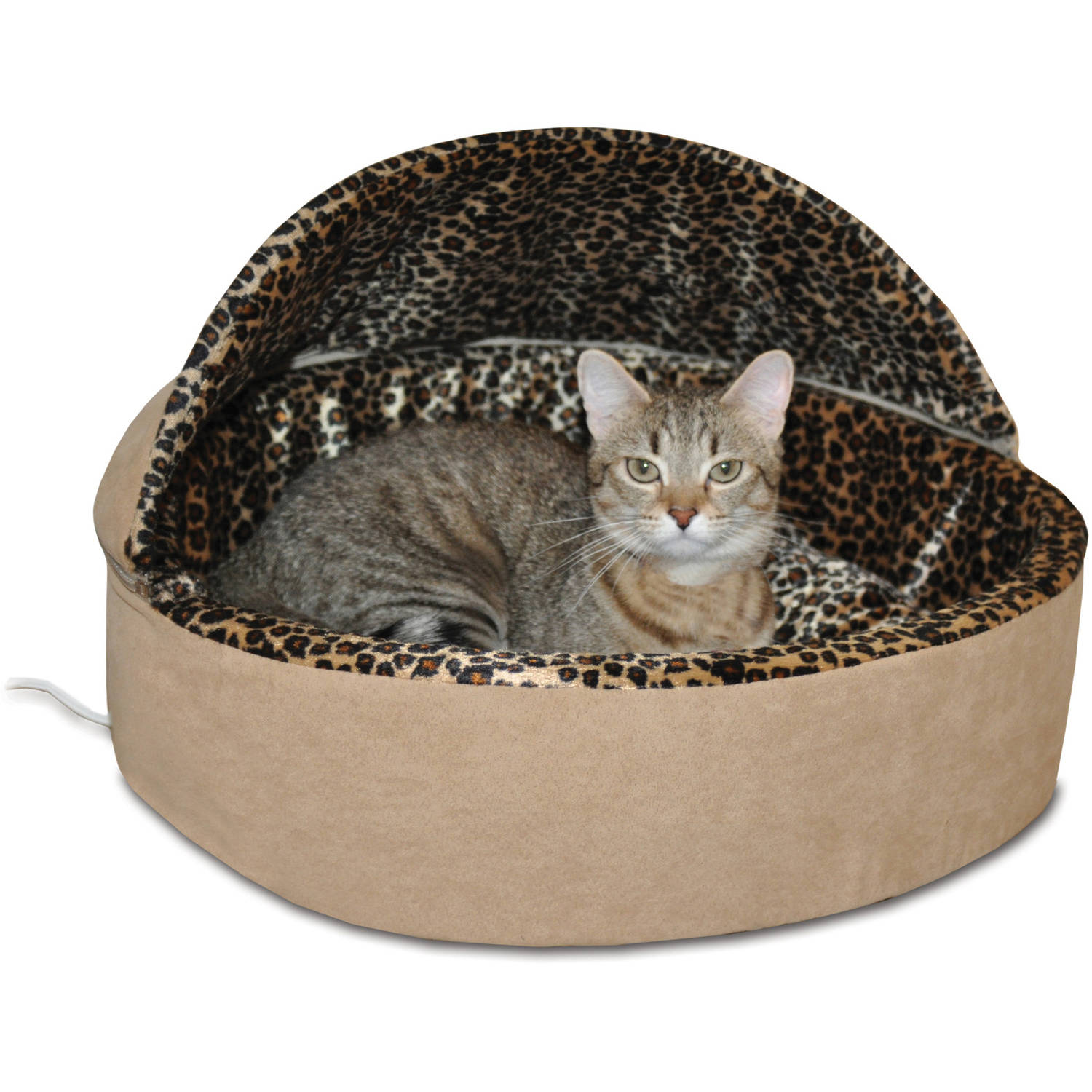 K&H Deluxe Thermo-Kitty Bed, Hooded