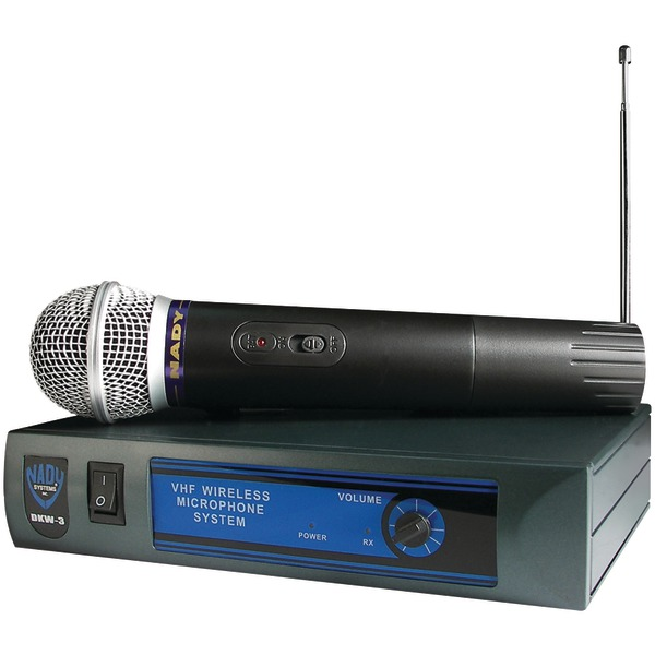 NADY DKW-3 HT B 185.150 Mhz Handheld Wireless Cardioid Dynamic Microphone System by