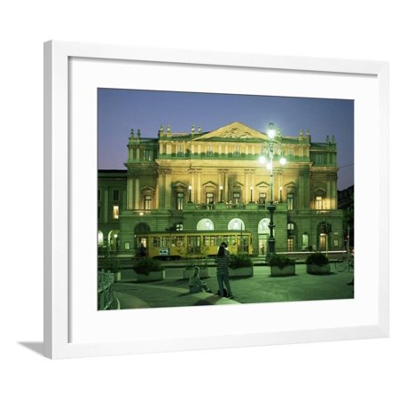 La Scala Opera House, Milan, Lombardia, Italy Framed Print Wall Art By Peter Scholey