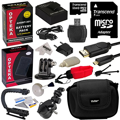 Opteka GoPro Action Sports Kit with 32GB MicroSDHC Memory...