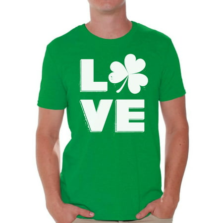7110fe77a Awkward Styles Love Shamrock Shirt St. Patricks Day T Shirt for Men Gifts  for Irish