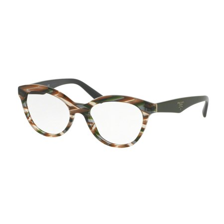 Prada 0PR 11RV Optical Full Rim Phantos Womens Eyeglasses - Size 52 (Sheaves Grey (Best Prada Eyeglass Frames)