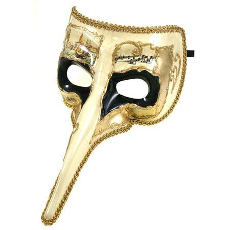 LONG NOSED ZANNI VENETIAN MASK - Carnival - MASQUERADE](Animal Noses Masks)