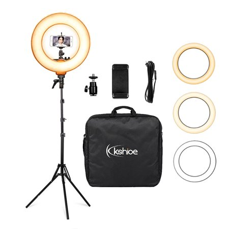 - Ktaxon Pro Photography Set 18 Inch 480-LED 5500K 50W Dimmable Ring Light Kit