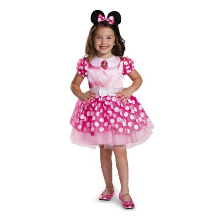 Minnie Mouse Pink Minnie Mouse Toddler Costume (Mickey And Minnie Halloween Costumes Diy)