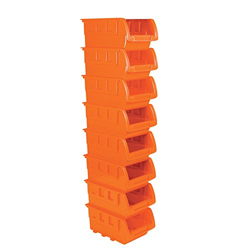 8 stackable storage bins plastic small container organizer parts tray wall mount by powerxt