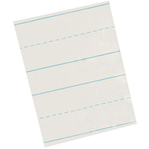 "SchoolSmart Skip-A-Line Chart Tablet, 1.5"" Ruled, 25 Sheets"