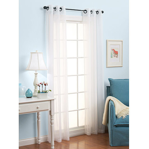Better Homes and Gardens Solid Voile Panel, set of 2