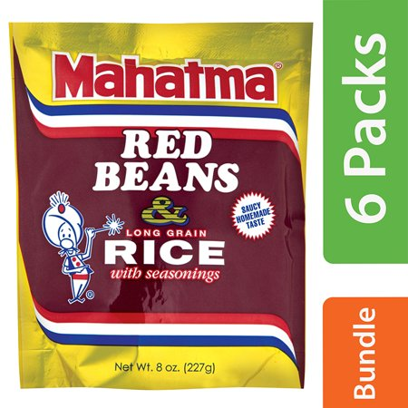 (6 Pack) Mahatma Red Beans & Long Grain Rice with Seasonings 8 (Best Red Beans And Rice Mix)