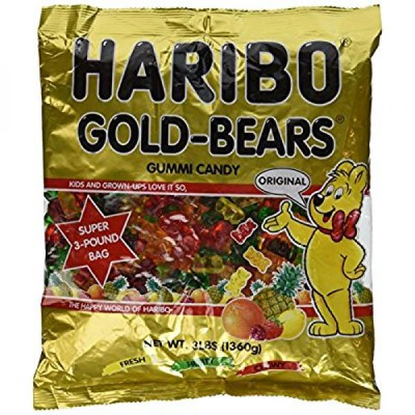 Haribo gummi candy gold-bears super size value package 10-lb