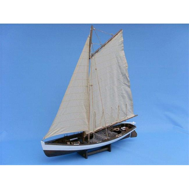 Handcrafted Decor Fishing Yacht 28 Wood Wooden Big Game Fishing Model Boat, 28 in. by Handcrafted Decor