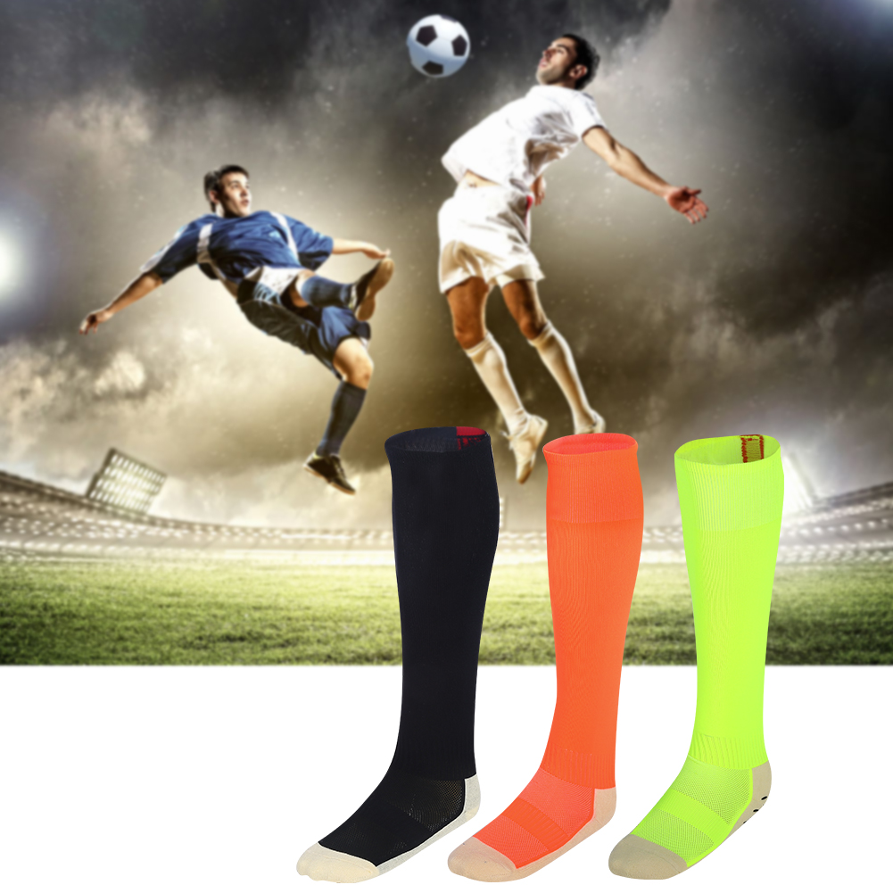 3 Colors 1 Pair Breathable Football Socks Anti-Slip Thick Soccer Stocking, Football Stocking, Anti-slip Soccer Sock