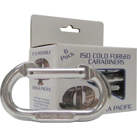 - Omega Pacific Standard Oval Bright Carabiners - 6 Pack