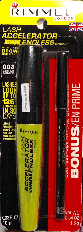 402d7424dc7 Lash Accelerator Endless Mascara 003 Extreme Black - Bonus Soft Kohl Kajal Eye  Pencil Jet Black, By Rimmel - Walmart.com