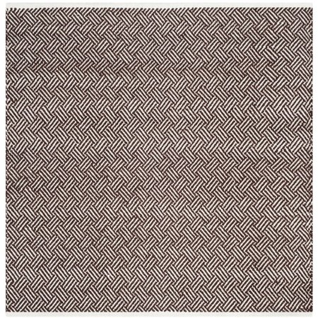 """Safavieh Boston 2'3"""" X 7' Hand Woven Cotton Pile Rug in Brown - image 2 of 7"""