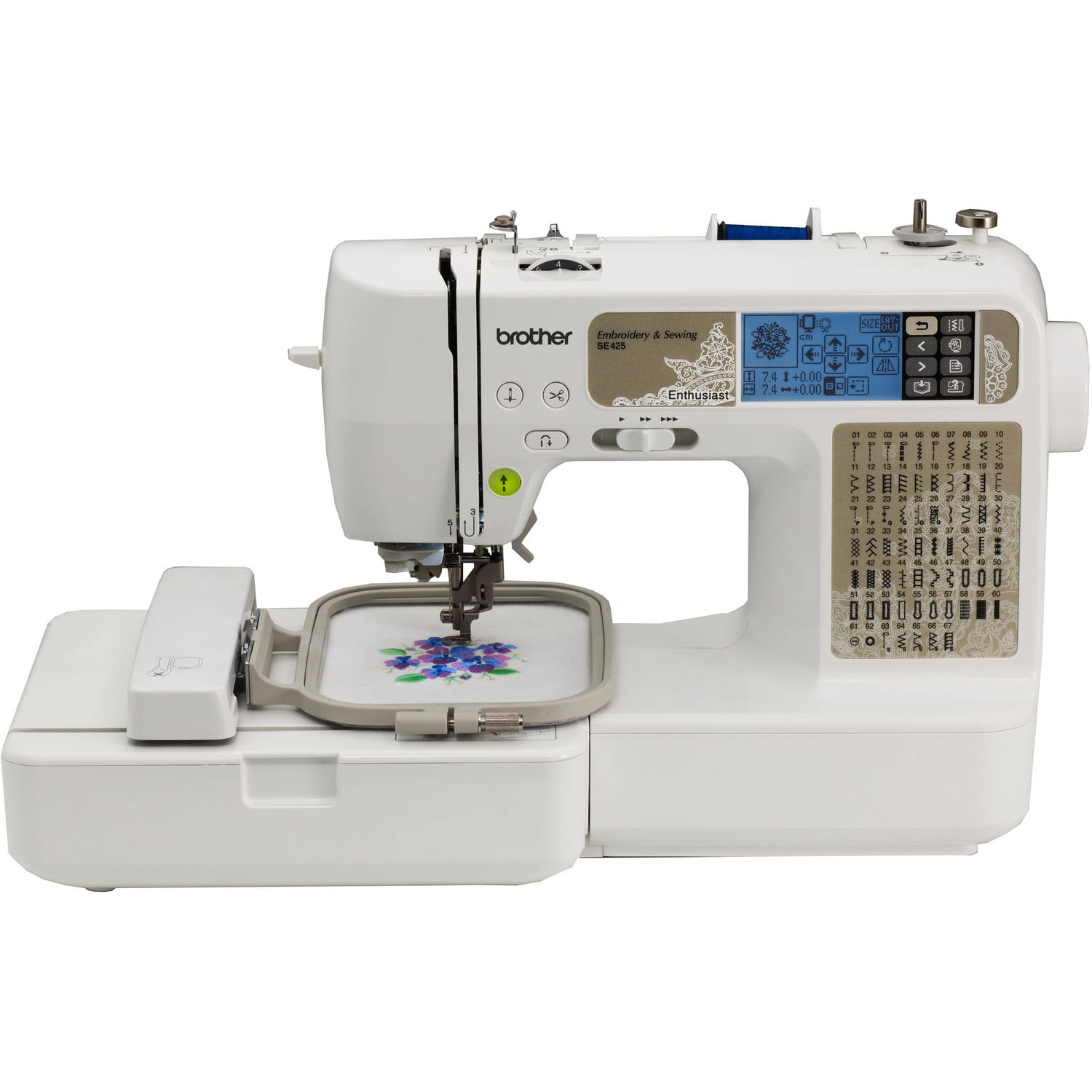 brother sewing and embroidery machine, se425 walmart.com