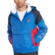 Nautica Mens Active Water Resistant Pullover Coat