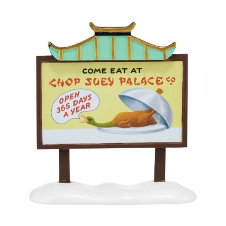Department 56 A Christmas Story Chop Suey Palace Billboard Village  Accessories, 5