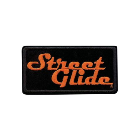 Embroidered Emblems - Harley-Davidson Embroidered Street Glide Emblem Patch, Small 4 x 2 in. EM647062, Harley Davidson