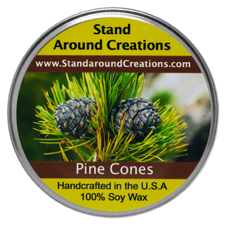 PINE CONES TUREEN 8-OZ. ALL NATURAL SOY - Cone Candles