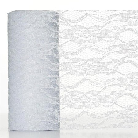 Lace Decorations (BalsaCircle 6 inches x 10 yards Glittered Lace Fabric by the Roll Crafts Sewing Wedding Party Draping DIY)