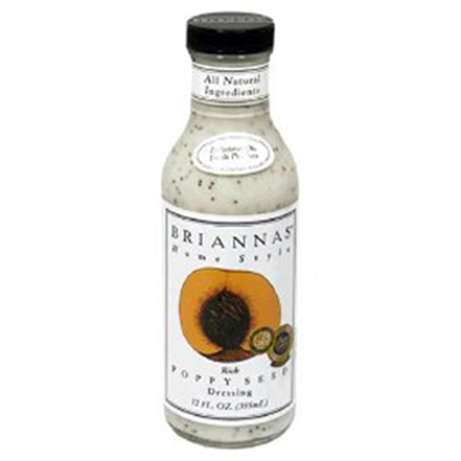 Briannas B25964 Briannas Home Style Salad Dressingrich Poppy Seed  -6x12oz