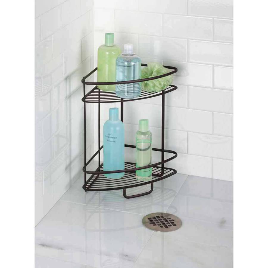 InterDesign Axis 2-Tier Free-Standing Shower Shelf