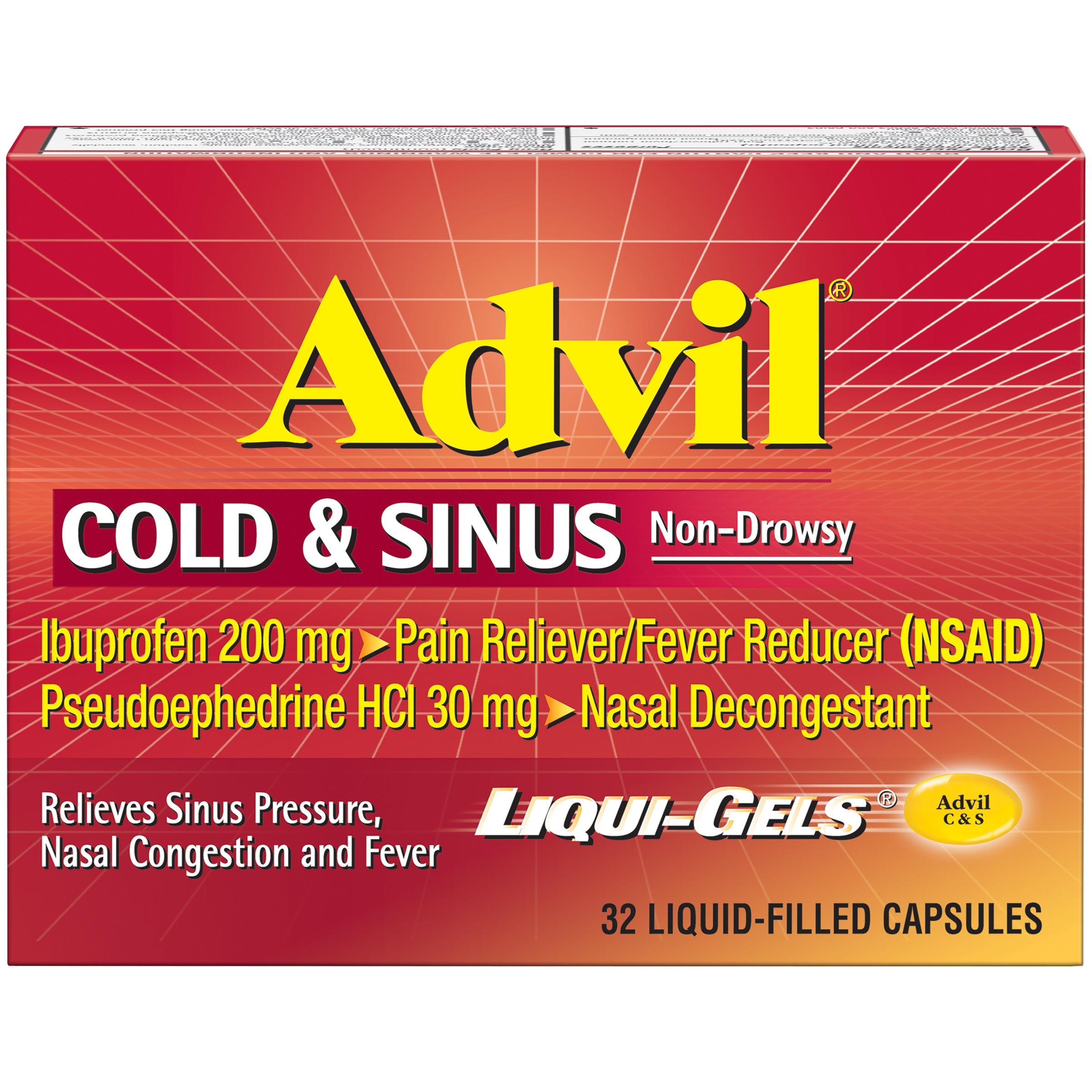 advil® cold & sinus non-drowsy pain reliever/fever reducer