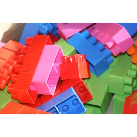 LAMINATED POSTER Play Toys Building Blocks Build Lego Children Poster 24x16 Adhesive Decal