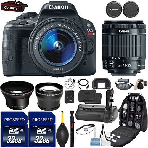 Canon EOS Rebel SL1 DSLR Camera with 18-55mm IS STM Lens ...