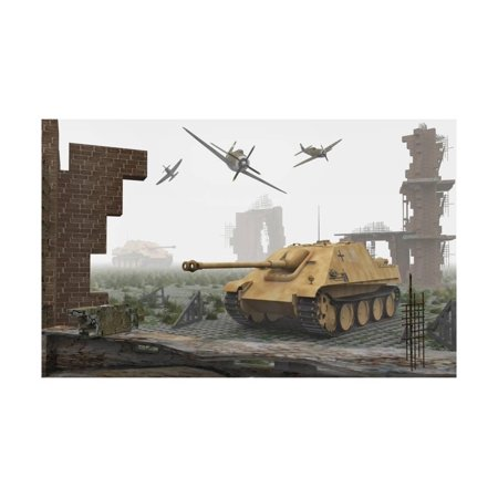 Art Print Tank Top - American P-47 Fighter Planes Attacking German Jagdpanther Tanks Print Wall Art
