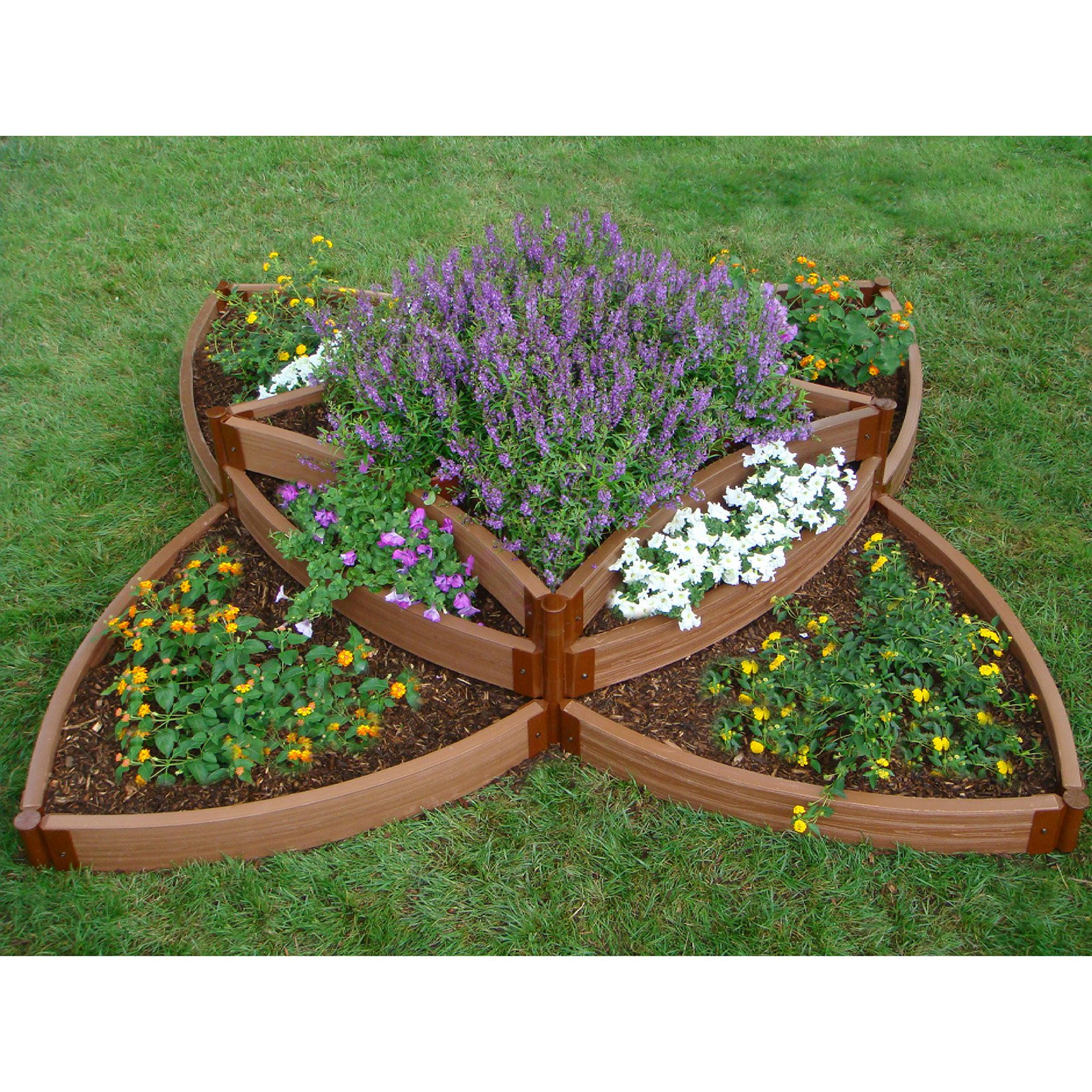 Frame It All 1-inch Series Composite Versailles Sunburst Raised Garden Bed Kit - 96L x 96W x 16.5H in.