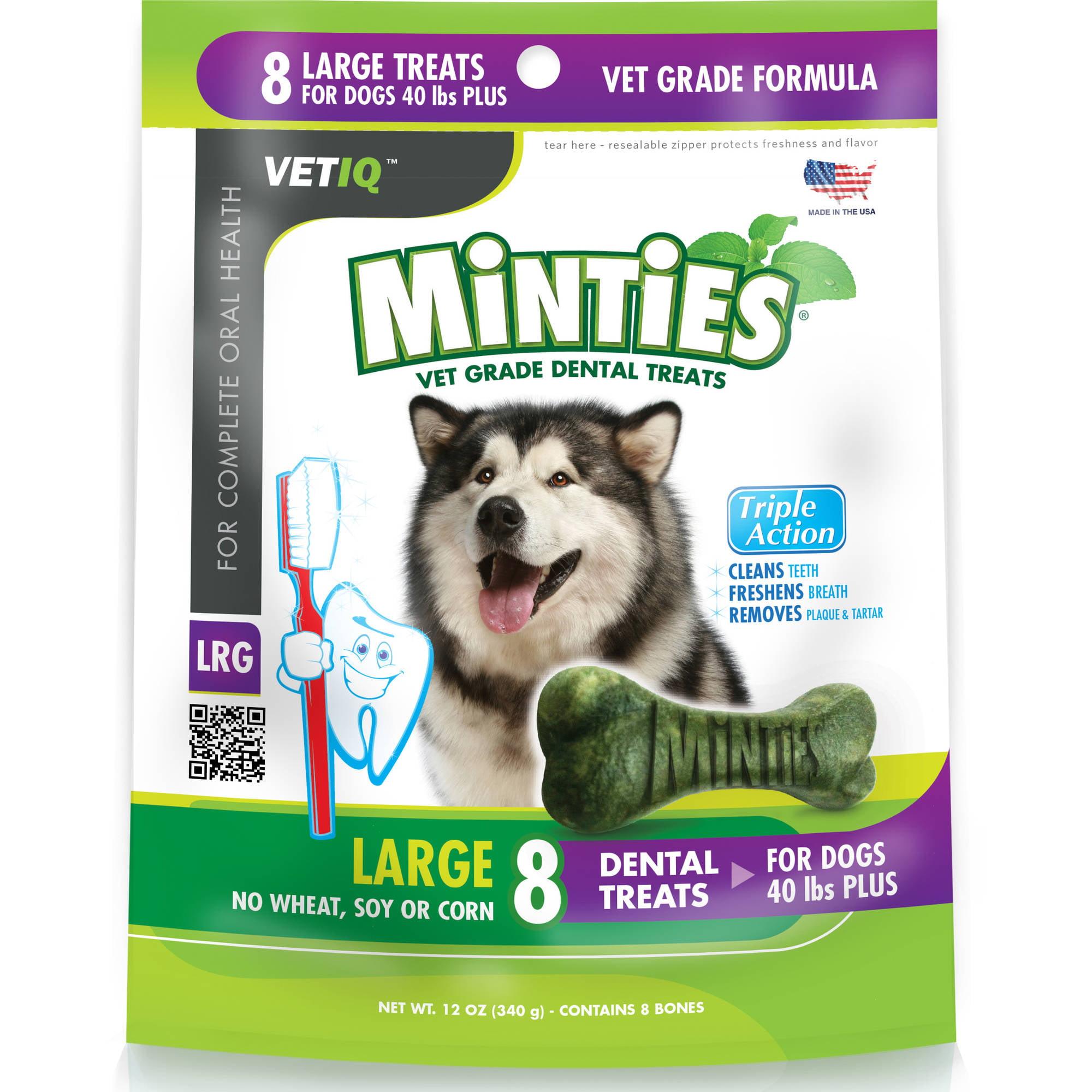 Minties from VetIQ Large Dog Dental Treats, 12 oz