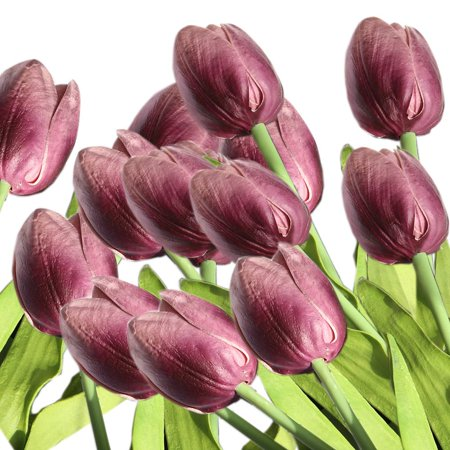 Fantastic Coolamde 10Pcs Artificial Flowers Real Touch Mini Pu Tulips Bouquet Fake Tulips Flowers Arrangement Artificial Plants For Wedding Centerpiece Room Download Free Architecture Designs Intelgarnamadebymaigaardcom