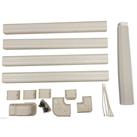 PVC Wire & Drainage Line Cover Kit for Mini Split Air Conditioners Mini Split Wiring on